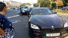 Accident în lanț în centrul Timișoarei. Mai multe mașini au fost grav avariate I FOTO