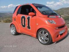 "General Lee smart car - I would have named it the ""Private Lee""..."