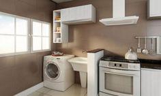 Dicas para integrar lavanderia e cozinha