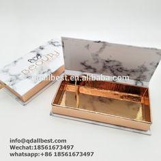 Luxury Custom 3D Mink Marble Pattern Lash Packaging Box