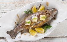 Photo credit: Istock Do not hesitate to wrap the stuffed trout in food film for a few hours before cooking them, they will only be [. Grilled Trout Recipes, Grilled Seafood, Fish Recipes, Seafood Recipes, Gourmet Recipes, Cooking Recipes, Healthy Snacks, Healthy Eating, Healthy Recipes