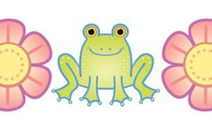 This is a close up of a FREE clip art border from my Frogs 'n' Flowers collection. Download the Preview to get it, plus a PDF that shows the other 40 files in the group.