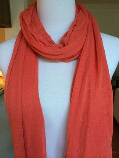 NWT AUTH Chan Luu Viscose Scarf Color: Living Coral #ChanLuu #Scarf