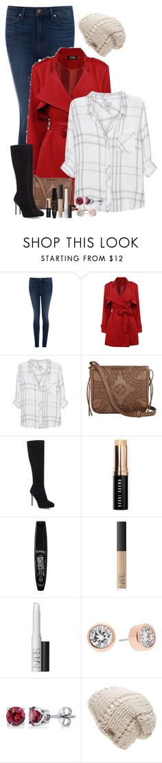 """""""winter morning errands"""" by huntress-383 ❤ liked on Polyvore featuring Paige Denim, Rails, T-shirt & Jeans, Jimmy Choo, Bobbi Brown Cosmetics, Rimmel, NARS Cosmetics, Michael Kors, BERRICLE and The North Face"""