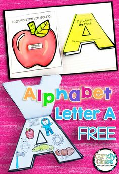 This is a fun way to teach the letter A! The alphabet shaped book turns letter… Arts And Crafts For Teens, Art And Craft Videos, Alphabet Crafts, Alphabet Book, Letter A Crafts, Alphabet Activities, Literacy Activities, Literacy Centers, Teaching Resources