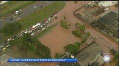 Tempestade causa alagamentos e queda de árvores no ABC Paulista