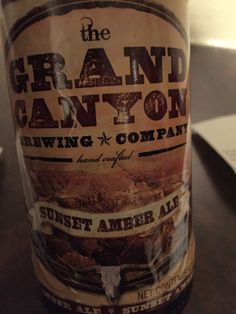 Grand Canyon Sunset Amber Ale. Bit too sweet
