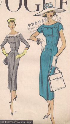 Vintage 1950s  Vogue 9050 One Piece Double by PatternsOfYore