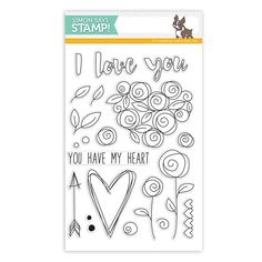 Simon Says Clear Stamps ROSES FOR YOU sss101582 You Have My Heart Preview Image