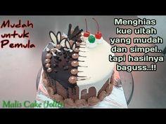 Kue Tart Coklat Siram Sederhana Cara Menghias Kue Ultah Sederhana Chocolate Decorating Youtube Kue Tart Menghias Kue Tart Coklat