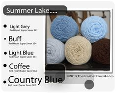 Red Heart Super Saver Color Mix: Summer Lake