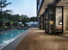 20 Modern Contemporary Rectangular Pools With Wooden Decking