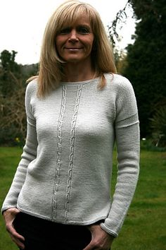 Ravelry: Marlena pattern by Paulina Popiolek. This is a great sweater to showcase a wonderful yarn