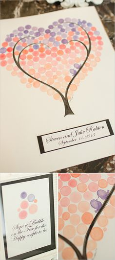 sign a bubble on the tree guestbook