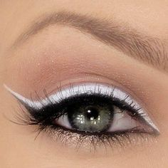 Yes! If you are going to wear white eyeliner.. U need to first line your eyes w/ black or a dark navy blue.... Please I cannot stress this enough!! Lol
