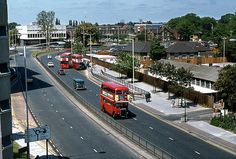 1977 - Before the Dolphin was built.  http://www.flickr.com/photos/david_christie/6239724929/  RT's on the Ring Road, by St.Edwards School Romford. 1977