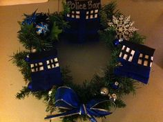 Dr Who wreath  great for Christmas or any other time by luv2right, $12.00