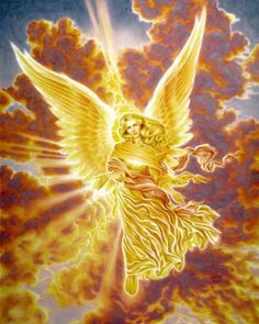 """Archangel Jophiel. Her name means """"The Beauty of God."""" Like all Archangels, she is beyond gender. She presides over all that is beauteous, fair and sublime and is said to guard the gates of Eden. Call on her to beautify your life, inside and out."""