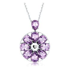 Smart Necklace Collection Gemstone Crystal | Totwoo ❤ liked on Polyvore featuring jewelry, necklaces, gem necklace, gem jewelry, crystal jewelry, floral jewelry and crystal necklace