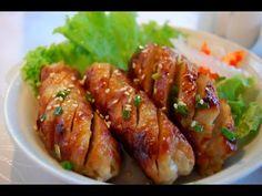 Cách Làm Nem Nướng Ngon Nhất (Nem nướng recipe) - YouTube Nem Nuong, Vietnamese Recipes, Vietnamese Food, Low Carb Dinner Recipes, No Carb Diets, Tandoori Chicken, Chicken Wings, Ketogenic Diet, Sausage