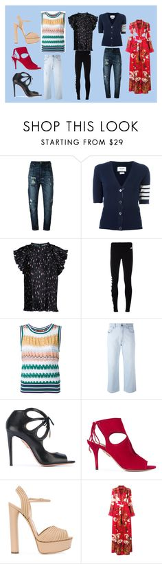 """fashion"" by monica022 ❤ liked on Polyvore featuring Diesel, Thom Browne, AkikoAoki, NIKE, Missoni, Diesel Black Gold, Aquazzura, Casadei, F.R.S For Restless Sleepers and vintage"