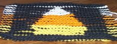 Knitted Illusion Candy Corn Cloth