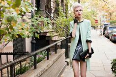 Mint Coat Over Prada Stylish Look! Miss Vogue #5: Ruby Jean Wilson #fashion #Editorial