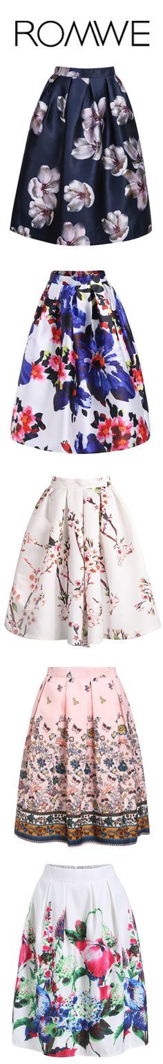 Brighten up your wardrobe with our cute floral print skirt! A total Must-Have this season! Modest Skirts/ Trendy Modest Clothes/ Floral Skirts/ Modest Clothing. View more at Romwe.com