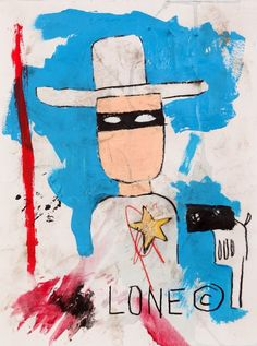 JEAN MICHEL BASQUIAT- superheroes-Lone Ranger