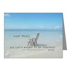 Love Notes To The Beach Meant Be Note Cards