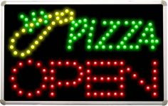 led145 OPEN Pizza Slice LED Neon Light Sign *** Click image for more details. Note: It's an affiliate link to Amazon