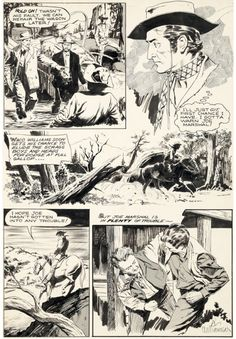 Original page by Al Williamson source unknown circa 1950s. My... Original page by Al Williamson source unknown circa 1950s. My guess is its from an issue of John Wayne Adventure Comics which means it could have been inked by Frank Frazetta!