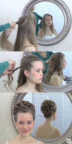 Best Hairstyles for Brides - Wedding Hair Video Tutorial Updo With Curls and Front Braid - Amazing Hair Styles and Looks for Half Up Medium Styles, Updo With Long Hair, Short Curls, Vintage Looks with Veil, Headpieces, or With Tiara - Wedding Looks for Girls With Round Faces - Awesome Simple Bridal Style With Headband or Elegant Braided Up Dos - thegoddess.com/hairstyles-for-brides #weddinghairstyleswithbraids #weddinghairstyleswithveil #weddinghairstylesshort