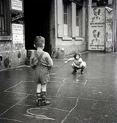 The hopscotch Paris 1960 Gérald Bloncourt