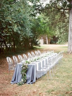 Outdoor rustic wedding table decor: http://www.stylemepretty.com/2017/03/15/al-fresco-simple-rustic-wedding-inspiration/ Photography: Michael and Carina - http://www.michaelandcarina.com/