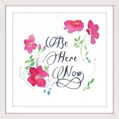 Marmont Hill - 'Be Here Now' by Christine Lindstrom Framed Painting Print