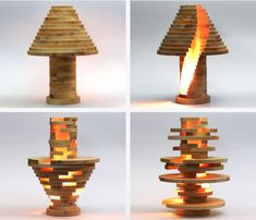 A #DIY shape-shifting lamp lets you stack and build the lamp of your dreams!