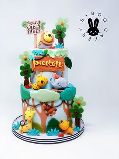 Jungle Theme Cakes, Themed Cakes, Fondant, Tart, Cake Recipes, Birthday Cake, Cake Cookies, Safari, Desserts