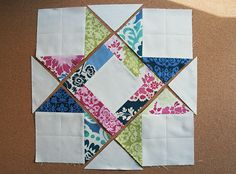 Tutorial - another Star Quilt Block - how fun this looks in big modern fabrics! L-O-V-E it!!