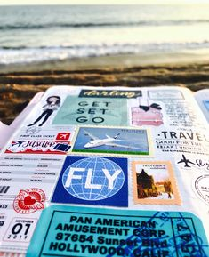 """Florence Antonette on Instagram: """"The beach fuels my soul. So does journaling/ memory keeping. What fuels your soul? #hobonichi #hobonichiweeks #hobonichicousin…"""" First Class Tickets, Ali Edwards, Travel Journals, Hobonichi, Travelers Notebook, Florence, Journaling, Memories, Beach"""