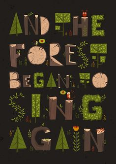 And the Forest began to Sing Again. on Behance
