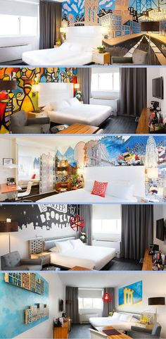 Cool Rooms! With a stay at NU Hotel Brooklyn in Brooklyn (Downtown Brooklyn), you'll be minutes from New York Transit Museum and close to Brooklyn Bridge. This romantic hotel is close to Ellis Island and Ellis Island Immigration Museum. Lear more at vossy.com #art #arthotel