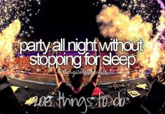 Party all night without stopping for sleep   ~Things to do in 2013~