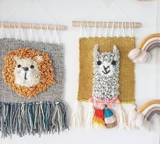 Ig:prima_ding BABY LION handwoven tapestry wallhanging home wall decor Weaving Wall Hanging, Weaving Art, Tapestry Weaving, Loom Weaving, Hand Weaving, Nursery Wall Decor, Home Wall Decor, Baby Decor, Weaving Projects