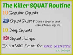 killer SQUAT routine! @shhfithappens
