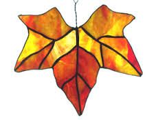 free stained glass patterns maple leaf - Google Search