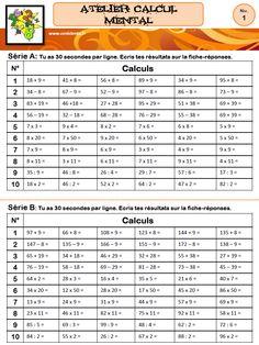 CM - Ateliers - Calcul (posé/mental)