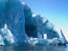 Floating blue iceberg