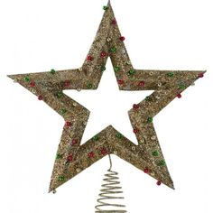 Again, I love the star tree toppers that are built to have an air star right in the middle - so cool once you see it. Christmas Tree Toppers, Christmas Ornaments, Christmas Trees, Gold Star Tree Topper, Unique Tree Toppers, Gold Stars, Symbols, Cool Stuff, Holiday Decor