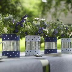 Decorações DIY feitas com latas de ferro
